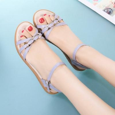 KEITH-WILL時尚鞋館 獨家價好評加碼羅馬美腿涼鞋-灰紫