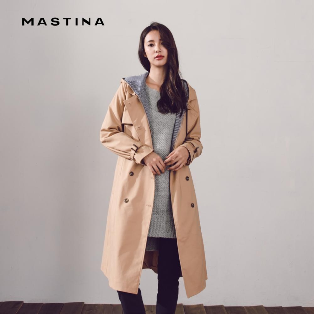 【MASTINA】防風直紋連帽風衣-外套