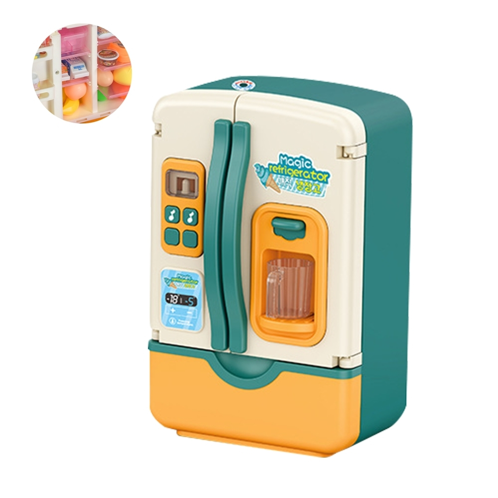 colorland扮家家酒廚房冰箱玩具 聲光噴霧注冰冰箱