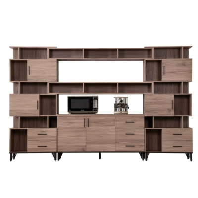 D&T德泰傢俱 BROOK淺胡桃木10.2尺櫥櫃收納櫃組-310x41.5x196cm