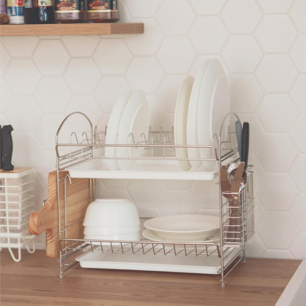 完美主義 精緻不繡鋼KD組合式餐具架/碗盤架