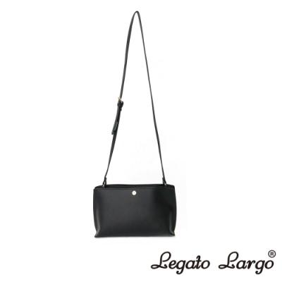 Legato Largo 驚異的輕量化 小法式輕便簡約 斜背小方包 黑色
