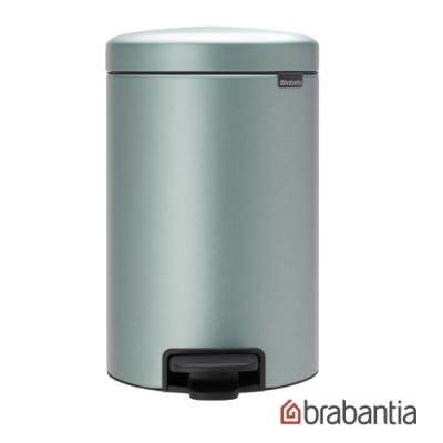 【Brabantia】 NEWICON環保垃圾桶-12L金屬藍