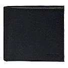 PRADA SAFFIANO防刮牛皮軋印LOGO折疊短夾(藏藍-8卡)
