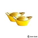 Jove Gold 漾金飾 参台錢加大版黃金元寶x2-福(共6台錢)