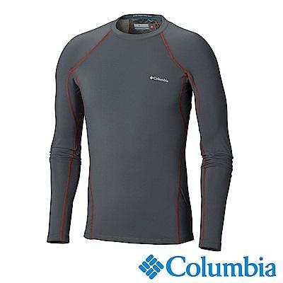 Columbia哥倫比亞 男款-Omni-HEAT保暖快排長袖上衣-深灰