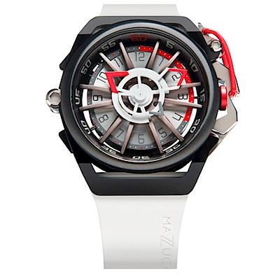 MAZZUCATO RIM高工藝義式美學翻轉機械石英腕錶/13-WHCG10