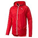 PUMA-男性慢跑系列輕量連帽風衣外套-賽車紅-歐規
