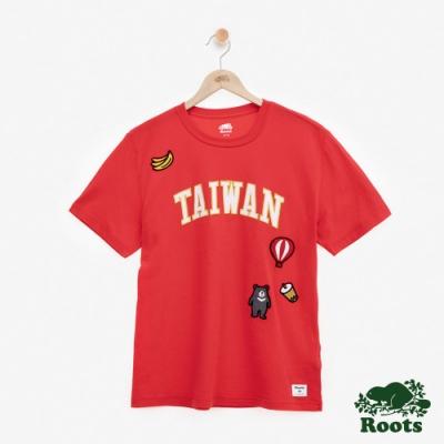 男裝Roots台灣國慶貼布短袖T恤-紅色