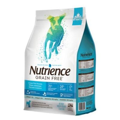 加拿大Nutrience紐崔斯GRAIN FREE無穀養生犬-六種魚(深海鱈魚&漢方草本) 5kg(11lbs) (NT-F6182)
