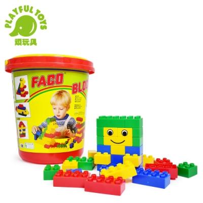 Playful Toys 頑玩具 圓桶時鐘大積木 2029(台灣製造MIT)