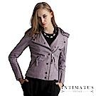 INTIMATUS 真皮 豐富細節水洗小羊皮皮衣 薰衣草紫
