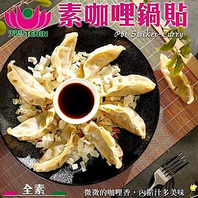 (滿999免運)天恩素食-咖哩鍋貼235g/包(全素)