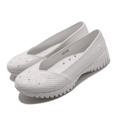 Skechers 休閒鞋 Go Walk Smart 水鞋 女鞋 雨天必備 好穿脫 快速排水 易清理 白 111117WHT