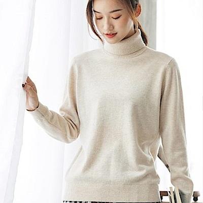 100%羊毛高領毛衣針織內搭衫-設計所在