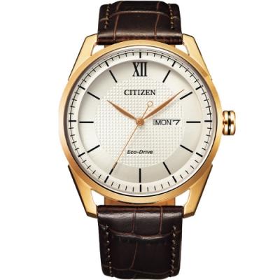 CITIZEN星辰 GENT S 經典格紋紳士腕錶 AW0082-19A-42mm