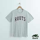 男裝Roots 拱形LOGO短袖T恤-灰