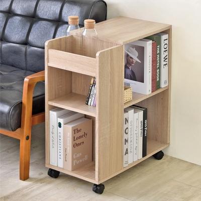 《HOPMA》DIY巧收多功能收納櫃/邊櫃/桌櫃/沙發邊櫃/置物櫃/滑輪/美背-寬30 x深60x高69cm