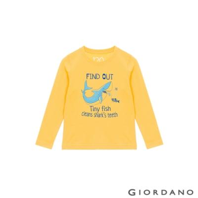 GIORDANO 童裝探索自然純棉T恤 - 71 含羞草黃