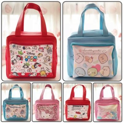【優貝選】卡通童趣大容量PU多用途 便當袋/午餐提包/媽媽提包