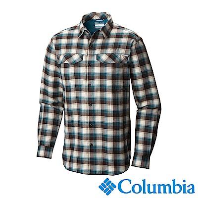 Columbia 哥倫比亞 男款-排快法蘭絨襯衫-藍格紋 UAM11720BC