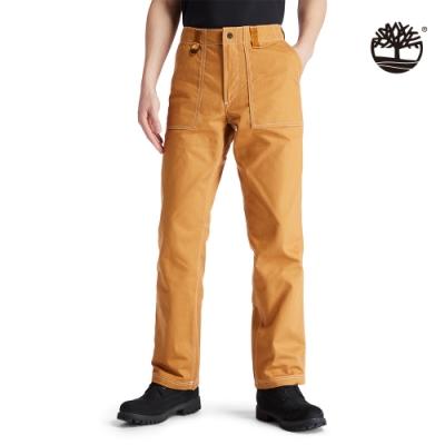 Timberland 男款小麥黃品牌標籤工裝直筒長褲 A2AD2