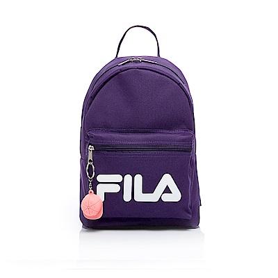 FILA LOGO後背包附鑰匙圈-深紫 BPT-1402-DP