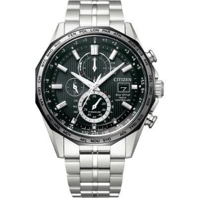 CITIZEN星辰 GENT S 商務光動能電波計時腕錶(AT8218-81E)-44mm