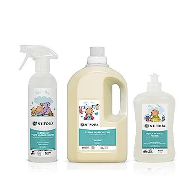 法國貝貝 天然洗衣精 / 碗盤清潔劑 / 多用途清潔噴霧-清潔三兄弟