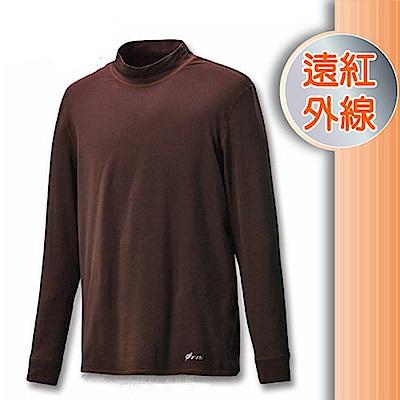 FIT 男 遠紅外線立領保暖內衣_FW1503 黑咖啡 V