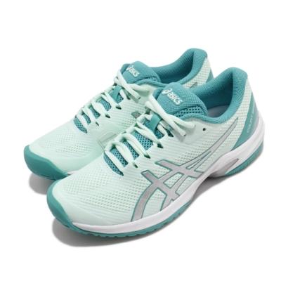 Asics 網球鞋 Court Speed FF 運動 女鞋 亞瑟士 膠底 穩定 緩震 透氣 綠 銀 1042A080301
