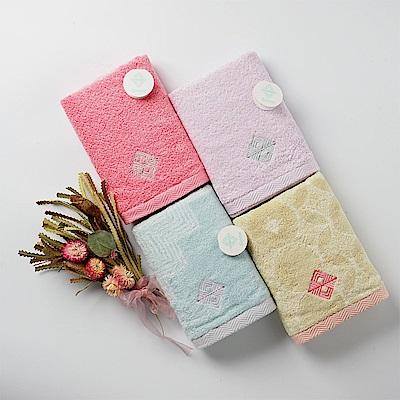 【日本丸真】今治認證設計師系列雙色毛巾禮盒兩件組(毛巾x2)-藍+粉
