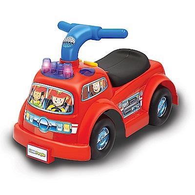 美國Fisher Price 費雪 little people-消防車騎乘玩具