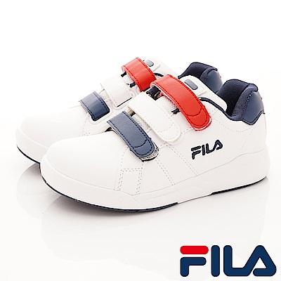 FILA頂級童鞋 義式經典款 EI13S-123白藍紅(中大童段)