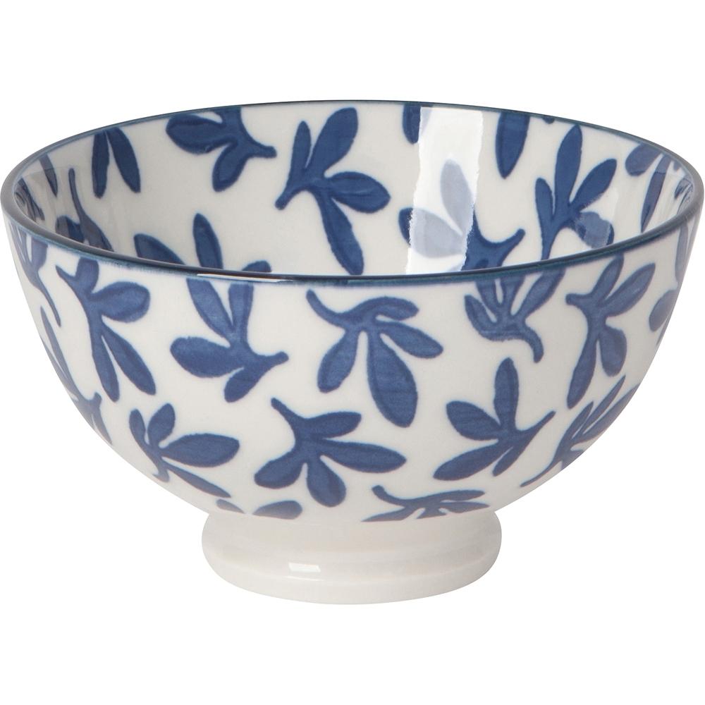 《NOW》瓷製餐碗(湛藍花11.5cm)