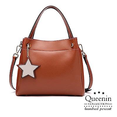 DF Flor Eden - 真皮簡約氣質佳麗人氣NO.1手提側背包-共2色