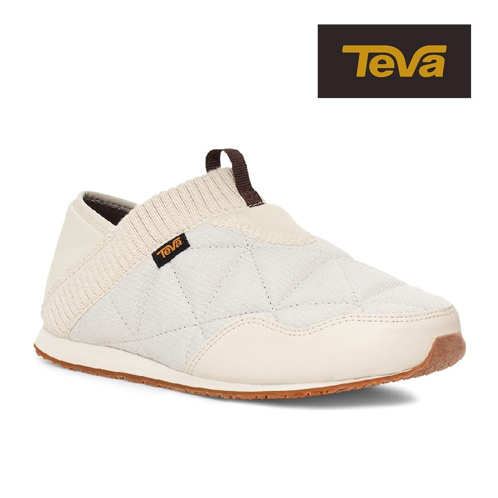 【TEVA】原廠貨 女 ReEmber 兩穿式防潑水菠蘿麵包鞋/休閒鞋/懶人鞋(樺木白-TV1125471BIR)