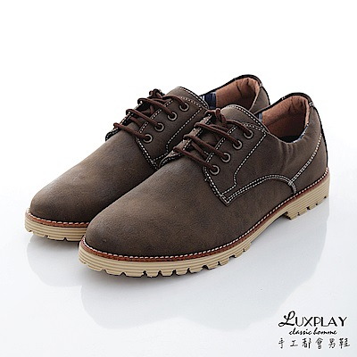 LUXPLAY  男款 日本和風款福樂休閒鞋 WK238咖