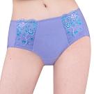 思薇爾 花蔓系列M-XL蕾絲低腰平口內褲(蔓苑紫)