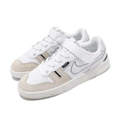 Nike 休閒鞋 Squash-Type 運動 童鞋 基本款 魔鬼氈 簡約 舒適 中童 穿搭 白 黑 CJ4120100