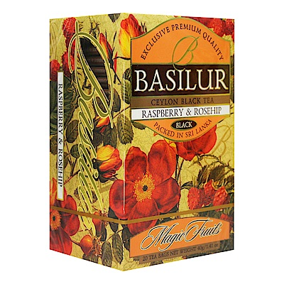 Basilur 錫蘭花果茶包(2gx20入)-覆盆子&玫瑰果