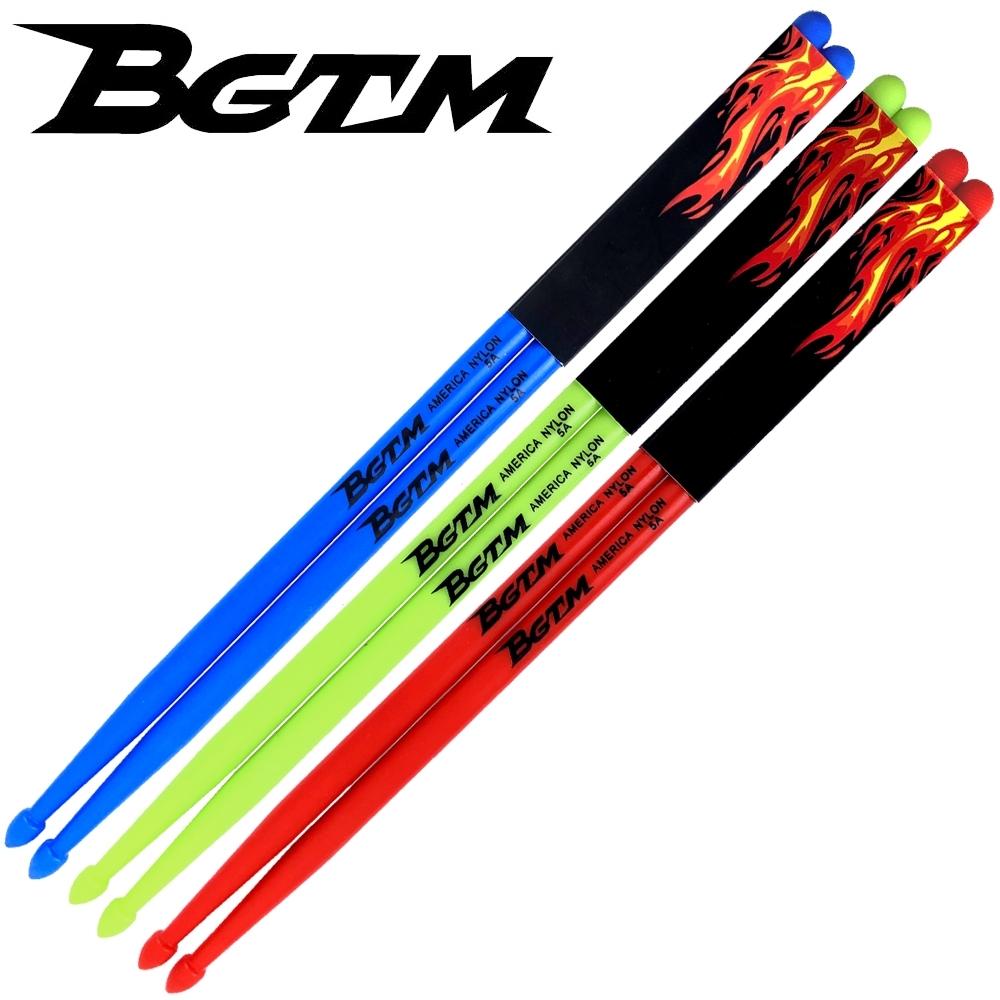 BGTM 嚴選AMERICA NYLON-5A尼龍鼓棒-3雙套裝組(加贈夜光鼓棒一雙)