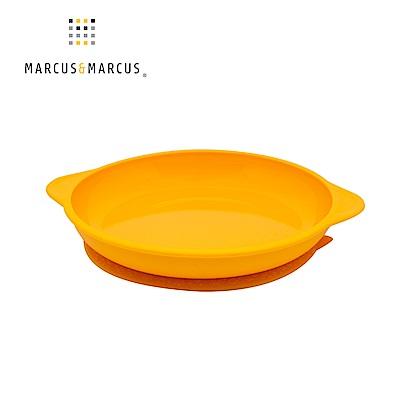 【MARCUS&MARCUS】動物樂園幼兒學習吸力餐盤-長頸鹿(黃)