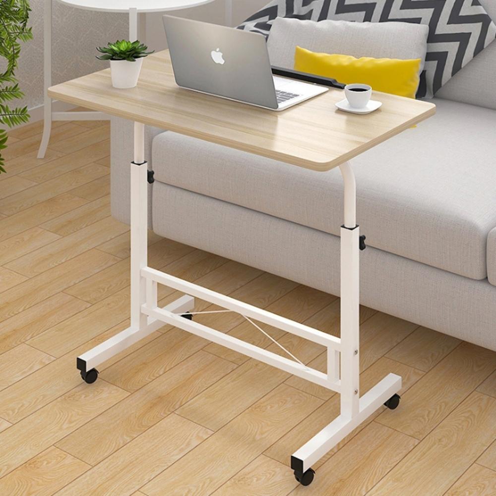 大尺寸筆電桌 可調角度升降電腦桌 床邊桌 懶人沙發桌80x40x66~90cm