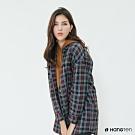 Hang Ten -女裝 - 英倫風配色格紋襯衫 - 藍