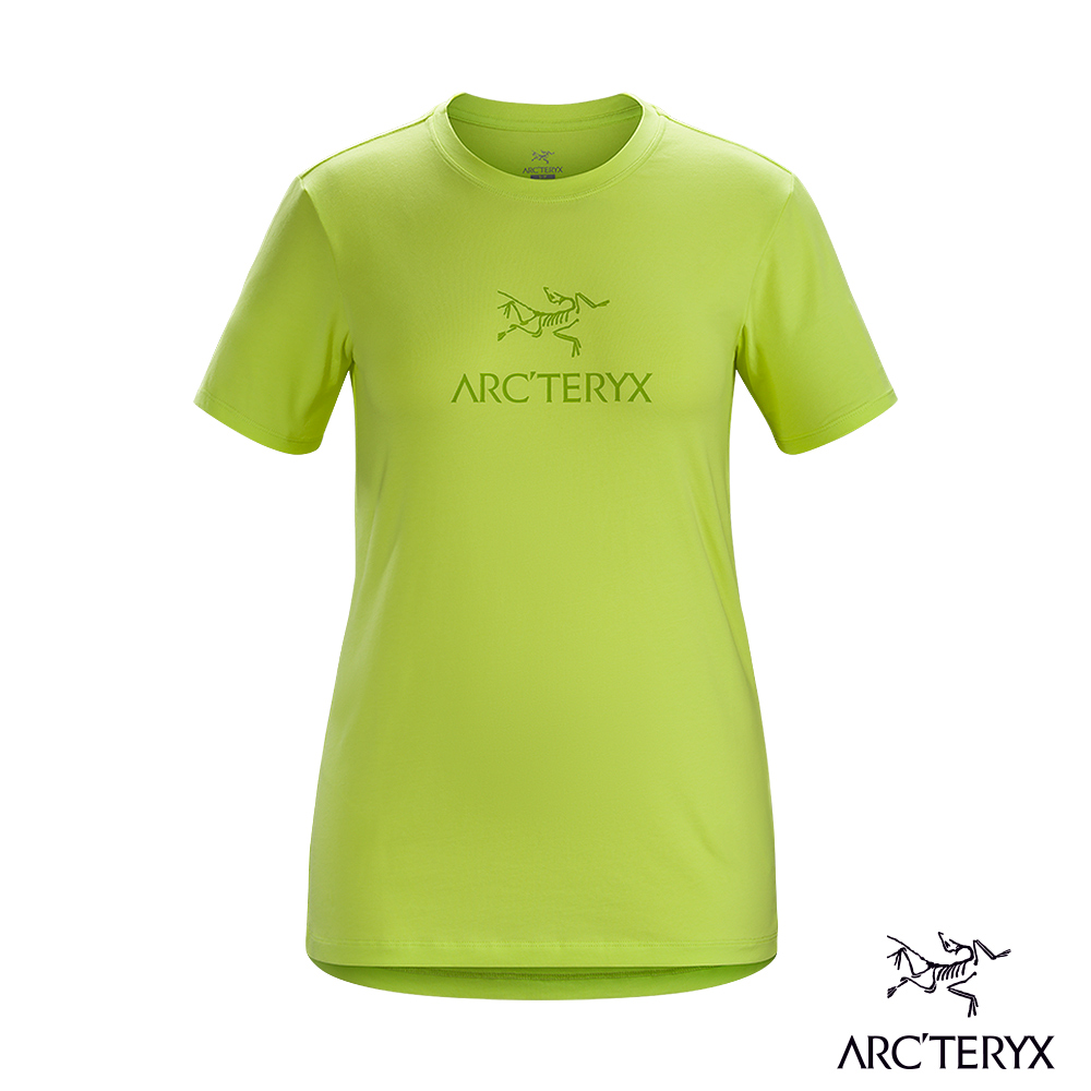 Arcteryx 始祖鳥 24系列 女 ArcWord 有機棉 短袖休閒Tee 電流綠