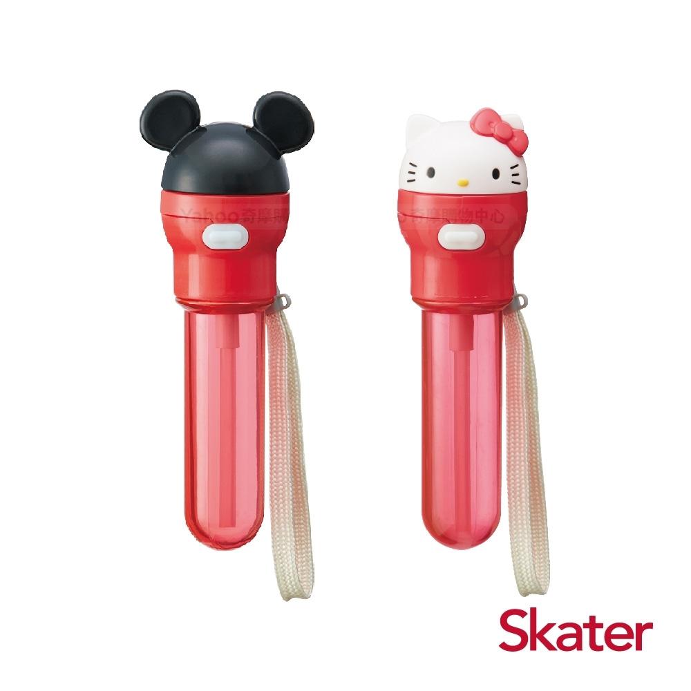 Skater攜便式吸管(附盒) 米奇+KITTY共2組