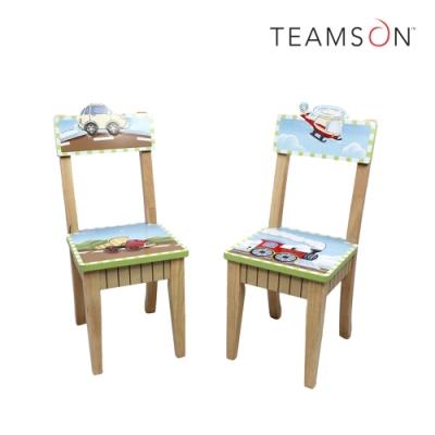 Teamson 童趣手繪木製兒童椅子2入(交通總動員)