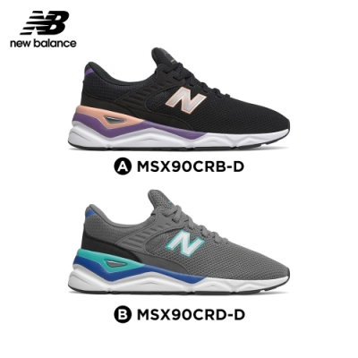 New Balance X90復古鞋_中性_黑色/鐵灰