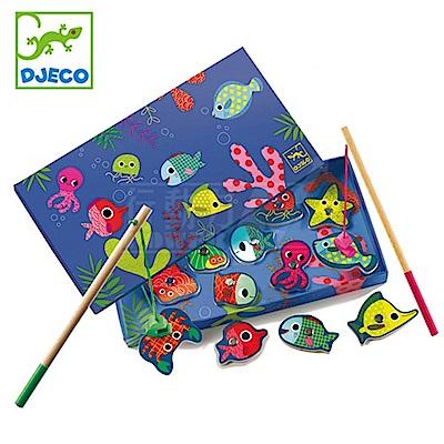 【任選】法國《DJECO-智荷》釣魚遊戲-彩色磁鐵釣魚組